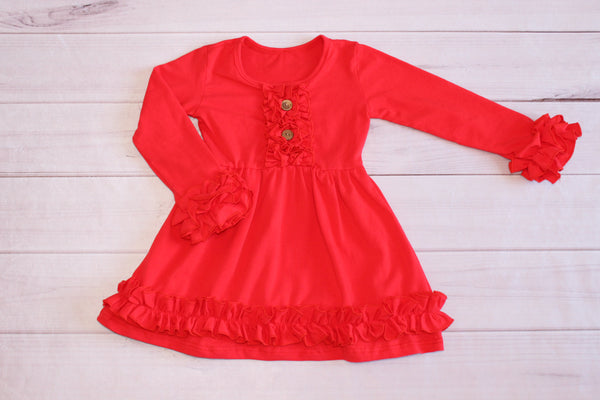 Long sleeve Ruffle dress