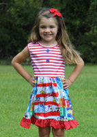Dr. Seuss Panel Dress