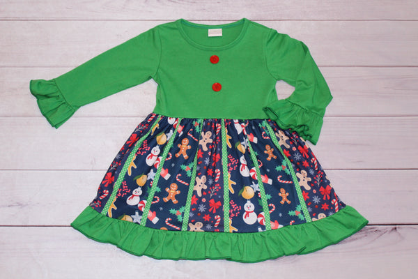 Green Gingerbread Dress