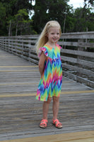 Chevron Tie Dye Pearl Dress