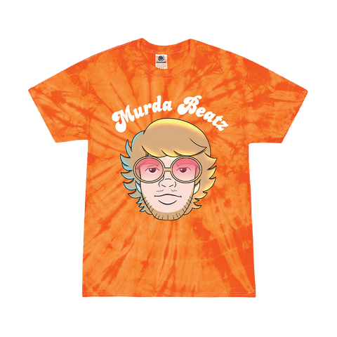 Murda Beatz Orange Tie Dye Banana Split T-Shirt