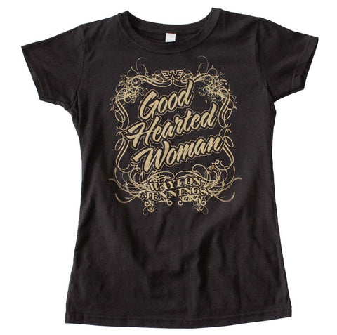 Waylon Jennings Good Hearted Woman Juniors Tee