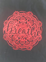 Breathe ~ holographic foil print 100% Cotton Shopping Bag