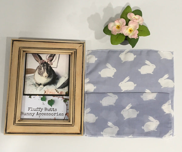 White Bunny Print Muslin Wipe Cloths *Limited Stock*