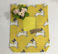 Yellow White Bunny Hay bag