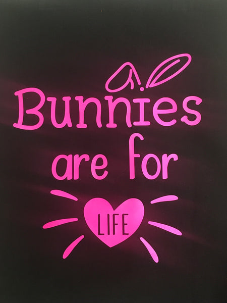 Bunnies are for Life ~ 100% Cotton Shopping Bag