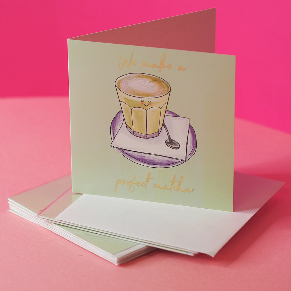 EL&N Greeting Card - 'Perfect Matcha' in Green