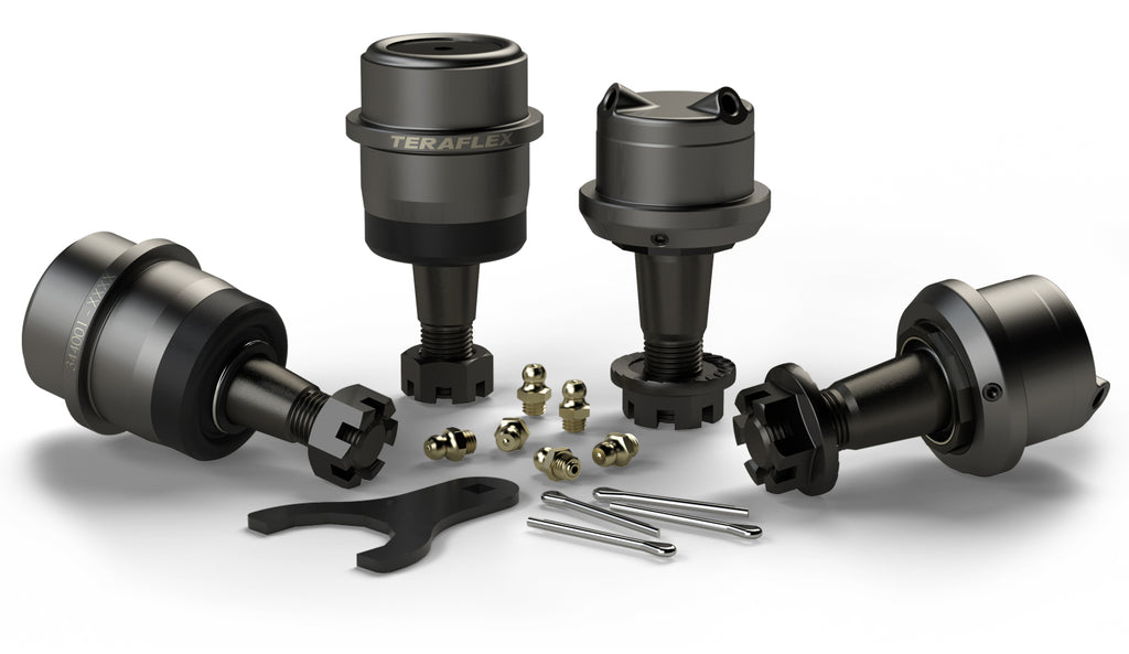 Jeep JK/JKU HD Dana 30/44 Upper and Lower Ball Joint Kit w/out Knurl Set of 4 07-18 Wrangler JK/JKU TeraFlex