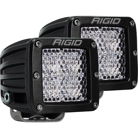 Rigid Industries D-Series PRO Flood Diffused Surface Mount Black 2 Lights