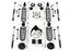 Jeep JK 2 Door Base 4 Inch Lift Kit w/ 9550 VSS Shocks 07-18 Wrangler JK TeraFlex