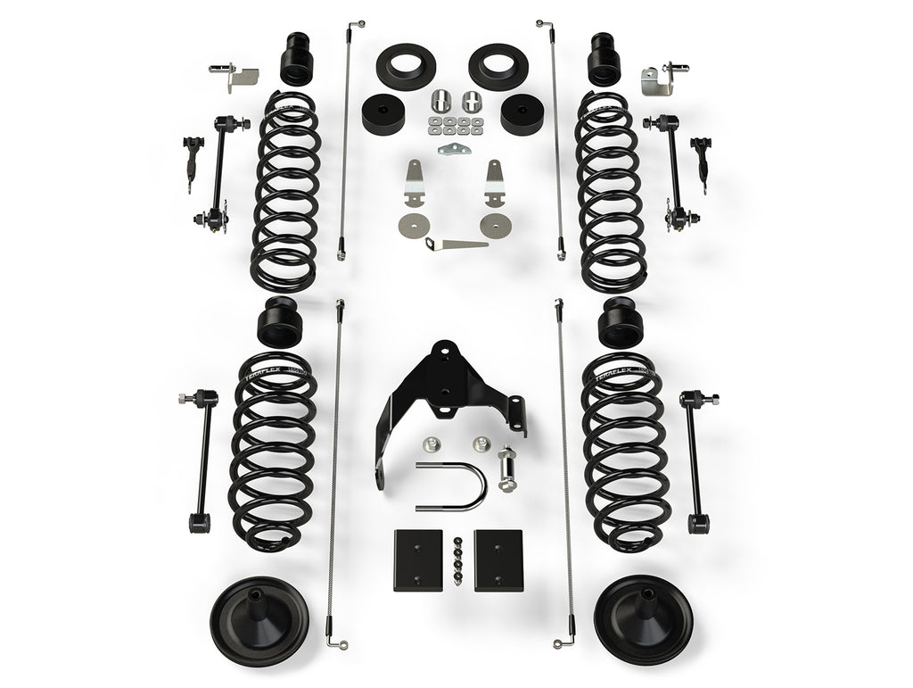 Jeep JKU 4 Door Base 4 Inch Lift Kit No Shocks 07-18 Wrangler JKU TeraFlex