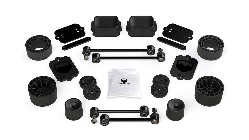 Jeep JL 2 Door Sport/Sahara 2.5 Inch Performance Spacer Lift Kit No Shocks Or Shock Extensions 18-Pres Wrangler JL TeraFlex