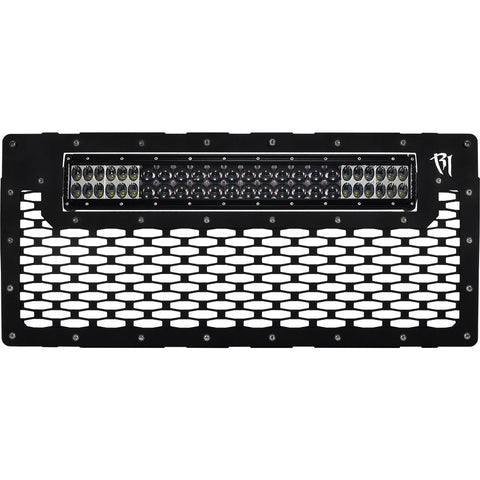 07-16 Jeep JK Wrangler Grille Fits 20 Inch E-Series Pro RIGID Industries