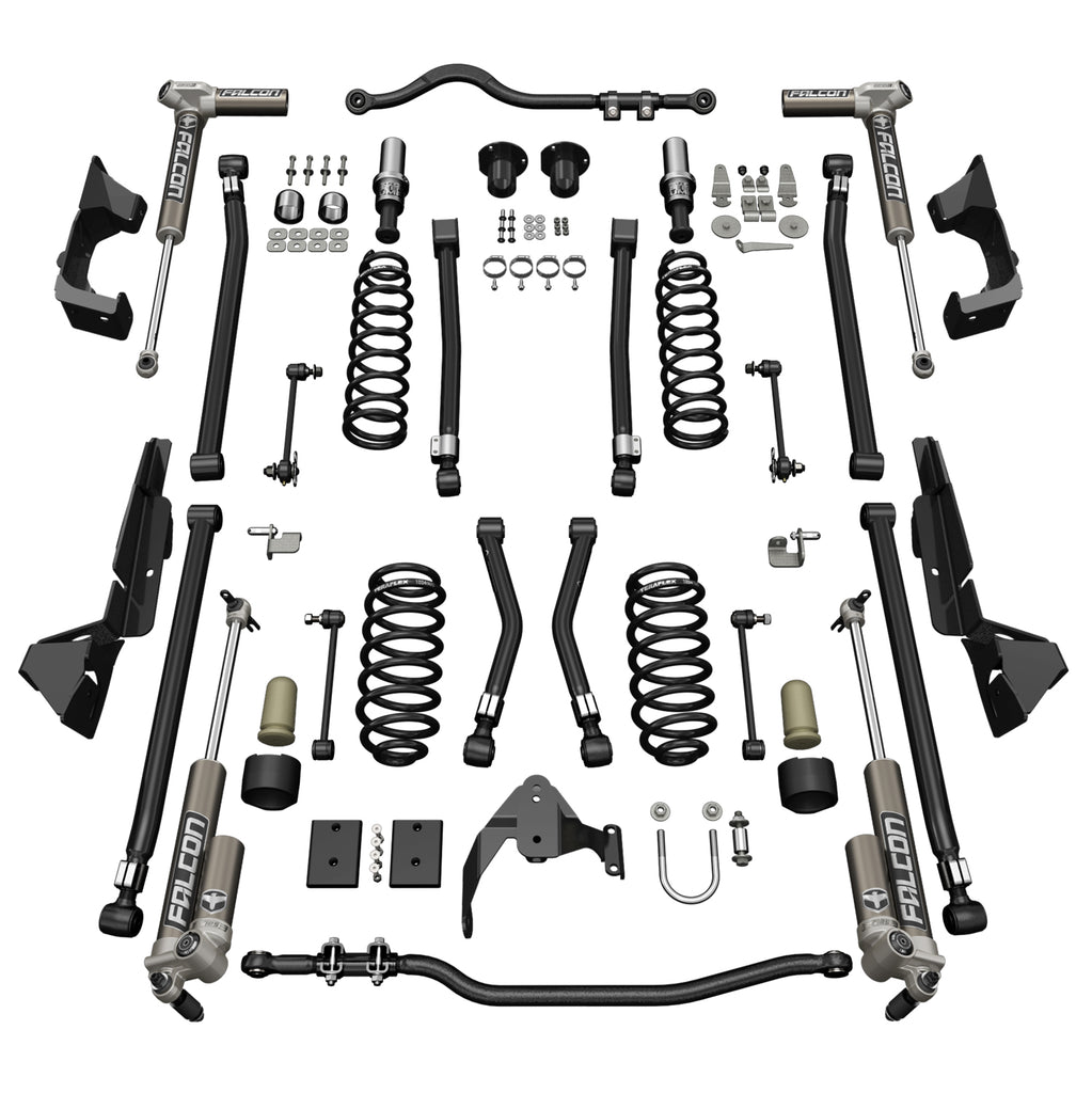Jeep JKU 4 Door Alpine CT4 Suspension System 4 Inch Lift w/ Falcon 3.1 Shocks 07-18 Wrangler JKU TeraFlex