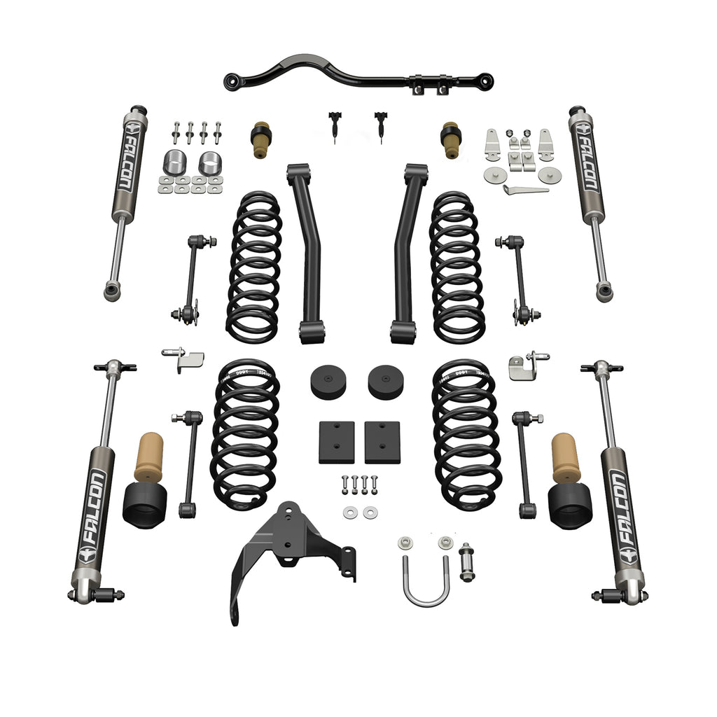 Jeep JKU 4 Door 2.5 Inch Sport ST2 Suspension System w/ Falcon 2.1 Shocks 07-18 Wrangler JKU TeraFlex