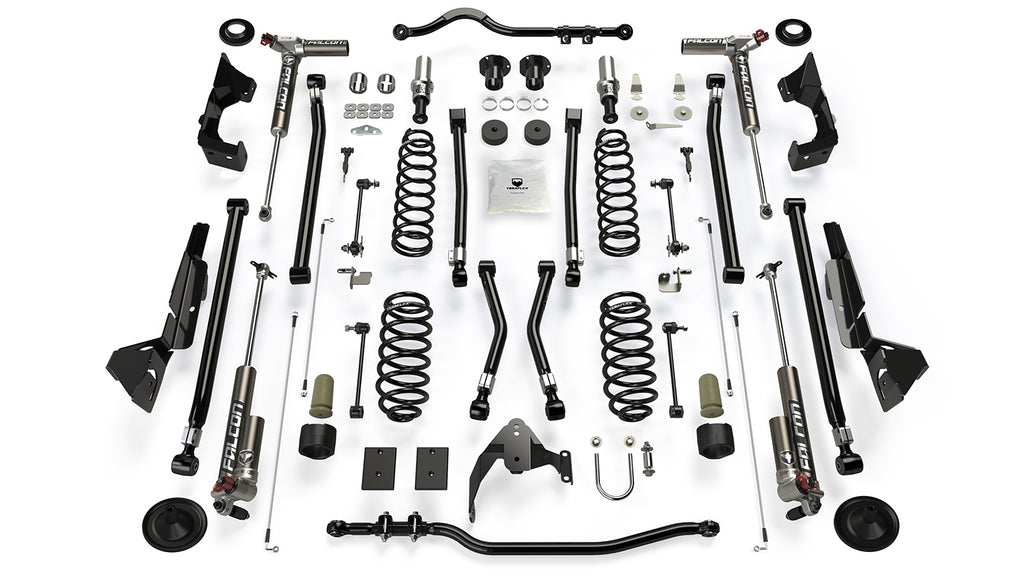 Jeep JKU 4 Door Alpine CT4 Suspension System 4 Inch Lift w/ Falcon 3.3 Shocks 07-18 Wrangler JKU TeraFlex