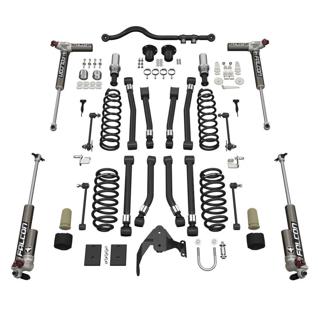 Jeep JKU 4 Door Alpine CT3 Suspension System 3 Inch Lift w/ Falcon 3.3 Shocks 07-18 Wrangler JKU TeraFlex