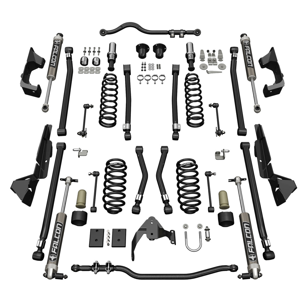 Jeep JK 2 Door Alpine CT4 Suspension System 4 Inch Lift w/ Falcon 2.1 Shocks 07-18 Wrangler JK TeraFlex