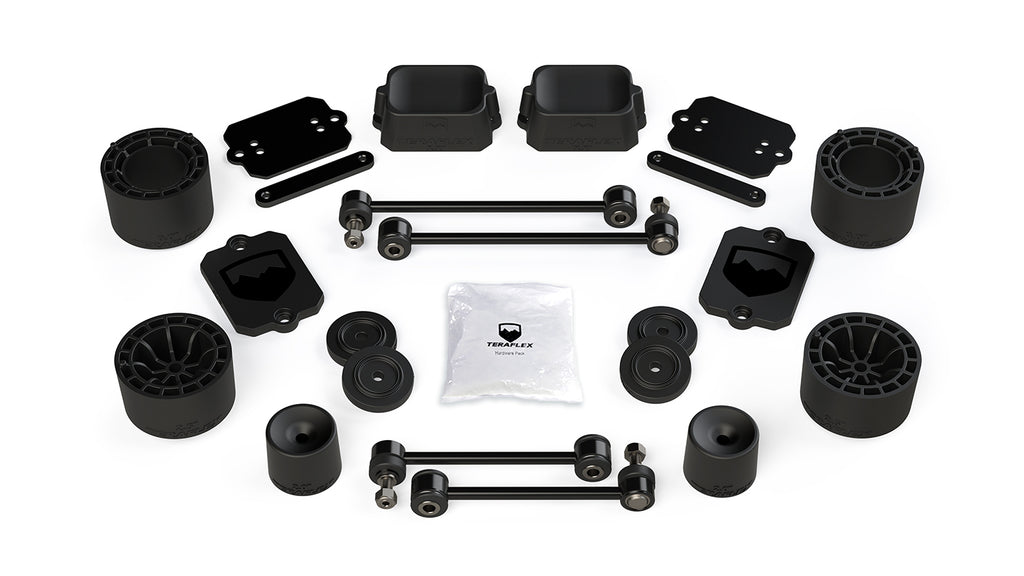 Jeep JLU 4 Door Sport/Sahara 2.5 Inch Performance Spacer Lift Kit No Shocks Or Shock Extensions 18-Pres Wrangler JLU TeraFlex