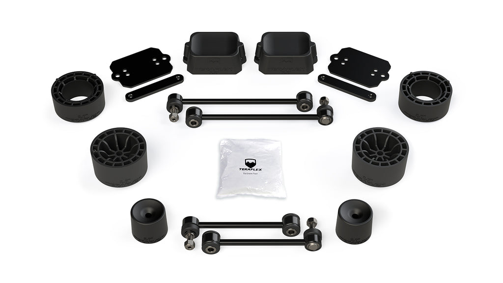 Jeep JL 2 Door Rubicon 2.5 Inch Performance Spacer Lift Kit No Shocks Or Shock Extensions 18-Pres Wrangler JL TeraFlex