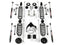 Jeep JKU 4 Door Base 4 Inch Lift Kit w/ 9550 VSS Shocks 07-18 Wrangler JKU TeraFlex