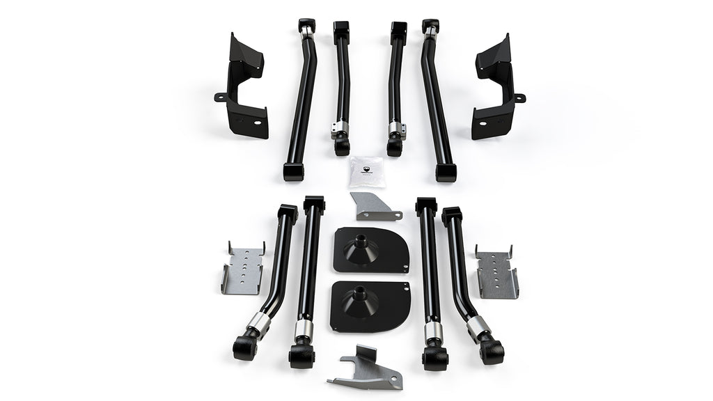 Jeep JK/JKU Alpine Front Long Flexarm and 2 Inch Rear Stretch Kit 07-18 Wrangler JK/JKU TeraFlex