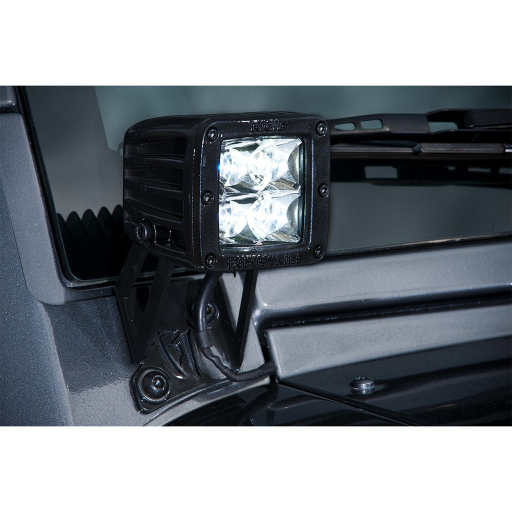 07-17 Jeep JK D-Series Pro A-Pillar Mount D-Series Pro RIGID Industries