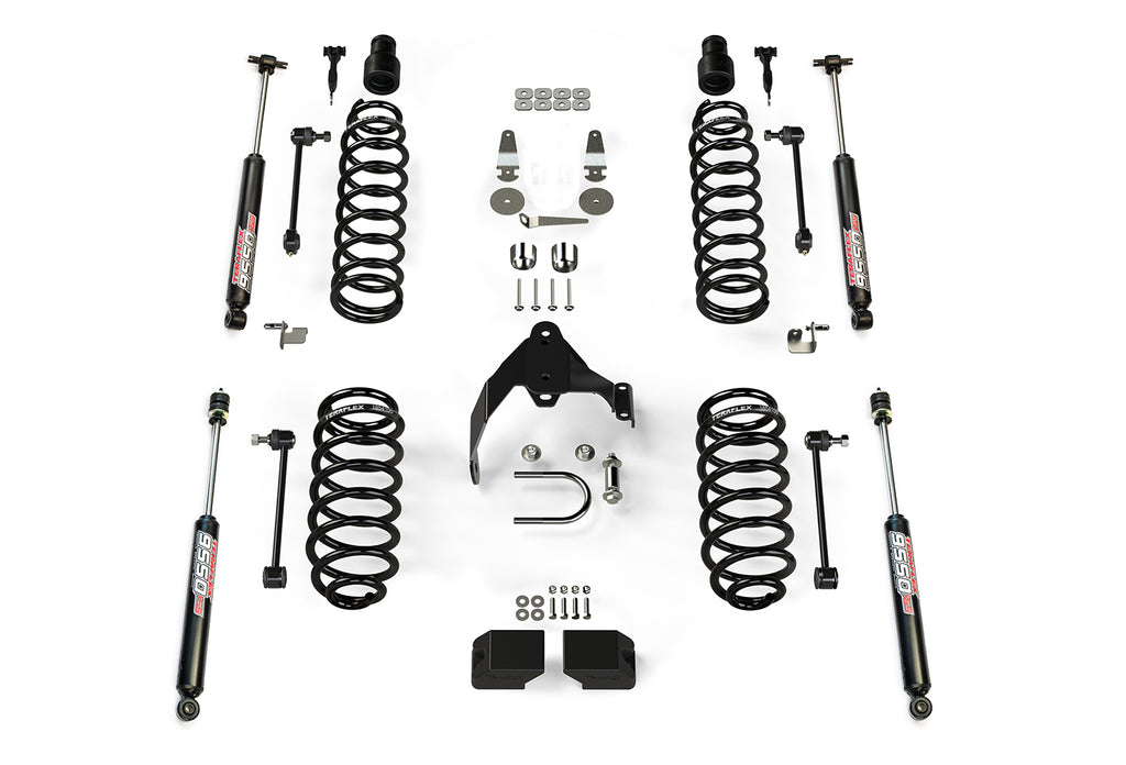 Jeep JKU 4 Door Base 3 Inch Lift Kit w/ 9550 VSS Shocks 07-18 Wrangler JKU TeraFlex