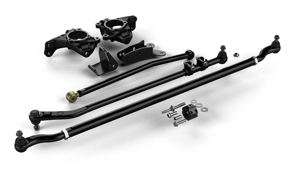 TeraFlex Jeep JK/JKU High Steer System w/ Complete HD Drag Link Flip Kit and Tie Rod Complete 07-18 Wrangler JK/JKU