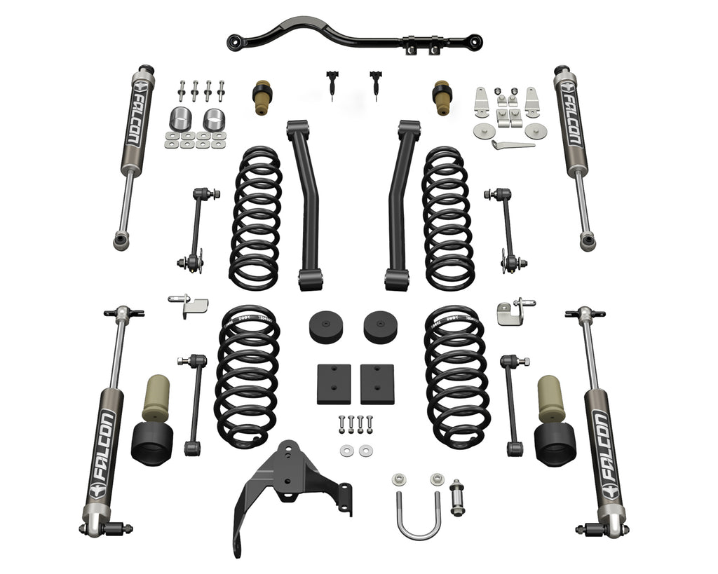 Jeep JK 2 Door 2.5 Inch Sport ST2 Suspension System w/ Falcon 2.1 Shocks 07-18 Wrangler JK TeraFlex