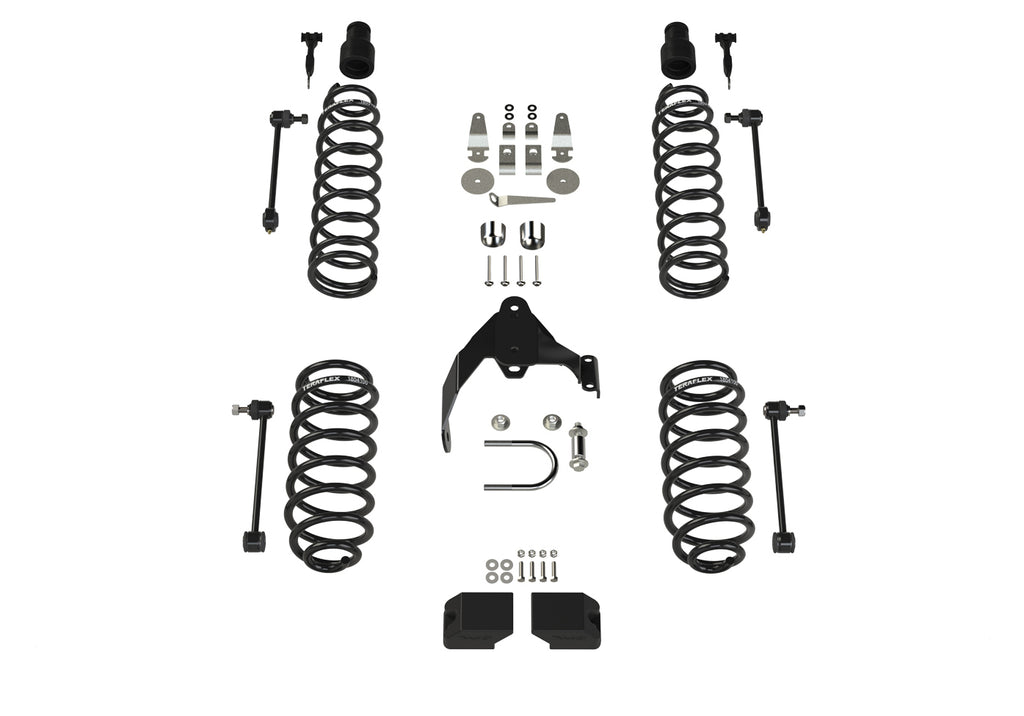 Jeep JK 2 Door Base 3 Inch Lift Kit w/ 9550 VSS Shocks 07-18 Wrangler JK TeraFlex