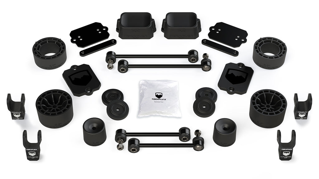 Jeep JL 2 Door Sport/Sahara 2.5 Inch Performance Spacer Lift Kit w/ Shock Extensions 18-Pres Wrangler JL TeraFlex