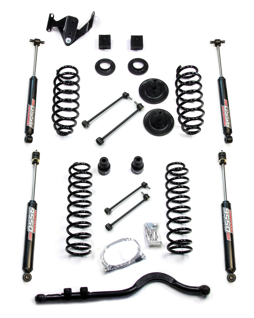 Jeep JKU 4 Door 3 Inch Lift Kit w/ 9550 Shocks and Track Bar 07-18 Wrangler JKU TeraFlex