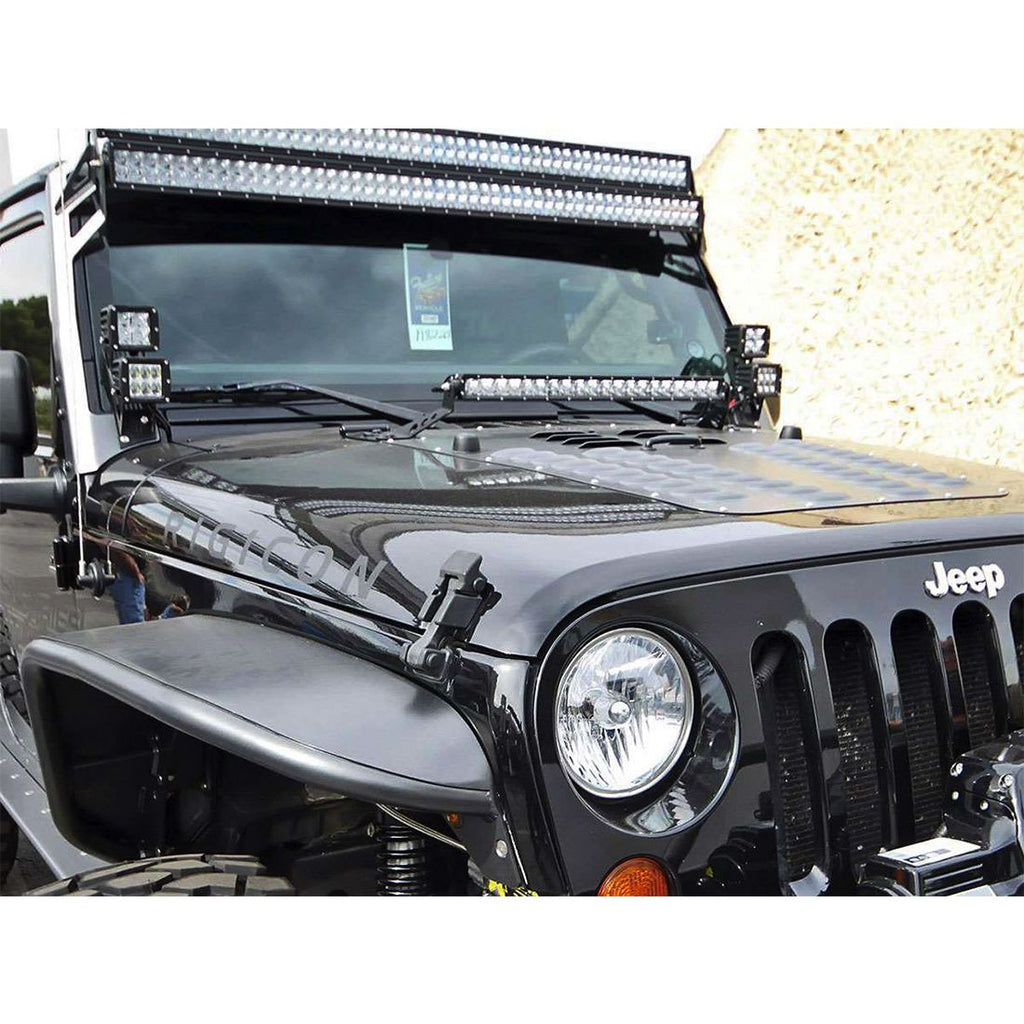 07-17 Jeep JK Dual D-Series Pro A-Pillar Mount D-Series Pro RIGID Industries