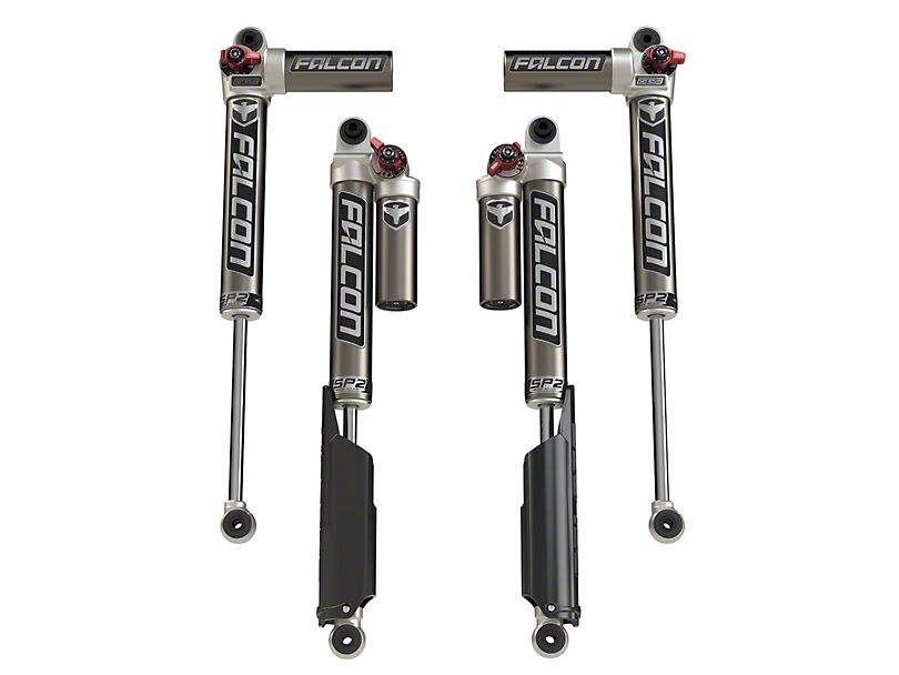 Teraflex Falcon Series SP2 3.3 Fast Adjust Piggyback Front & Rear Shocks for Jeep Wrangler JL/JLU