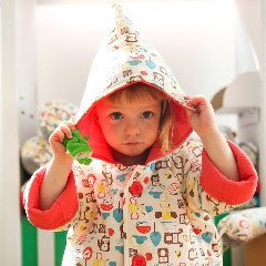 Mezoome Toddler Organic Hooded Coat - Coral Pink - Mezoome Designs