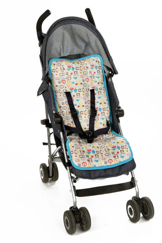 Universal Organic Pattern Stroller Liner - Blue - Mezoome Designs