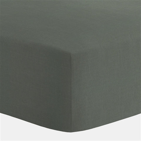 Slate Grey Egyptian Cotton Fitted Crib Sheet - Mezoome Designs