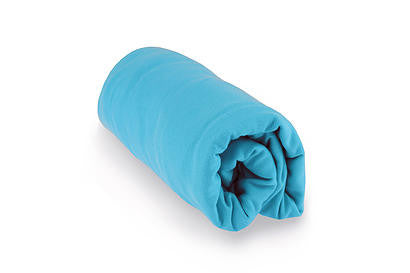 Turquoise Blue Organic Cotton Fitted Crib Sheet - Mezoome Designs