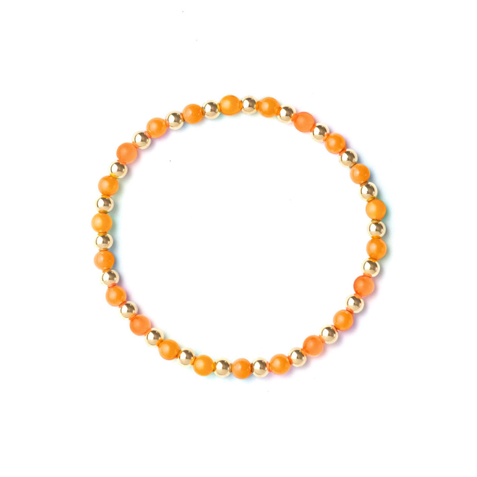 Golden Neon Orange Bracelet