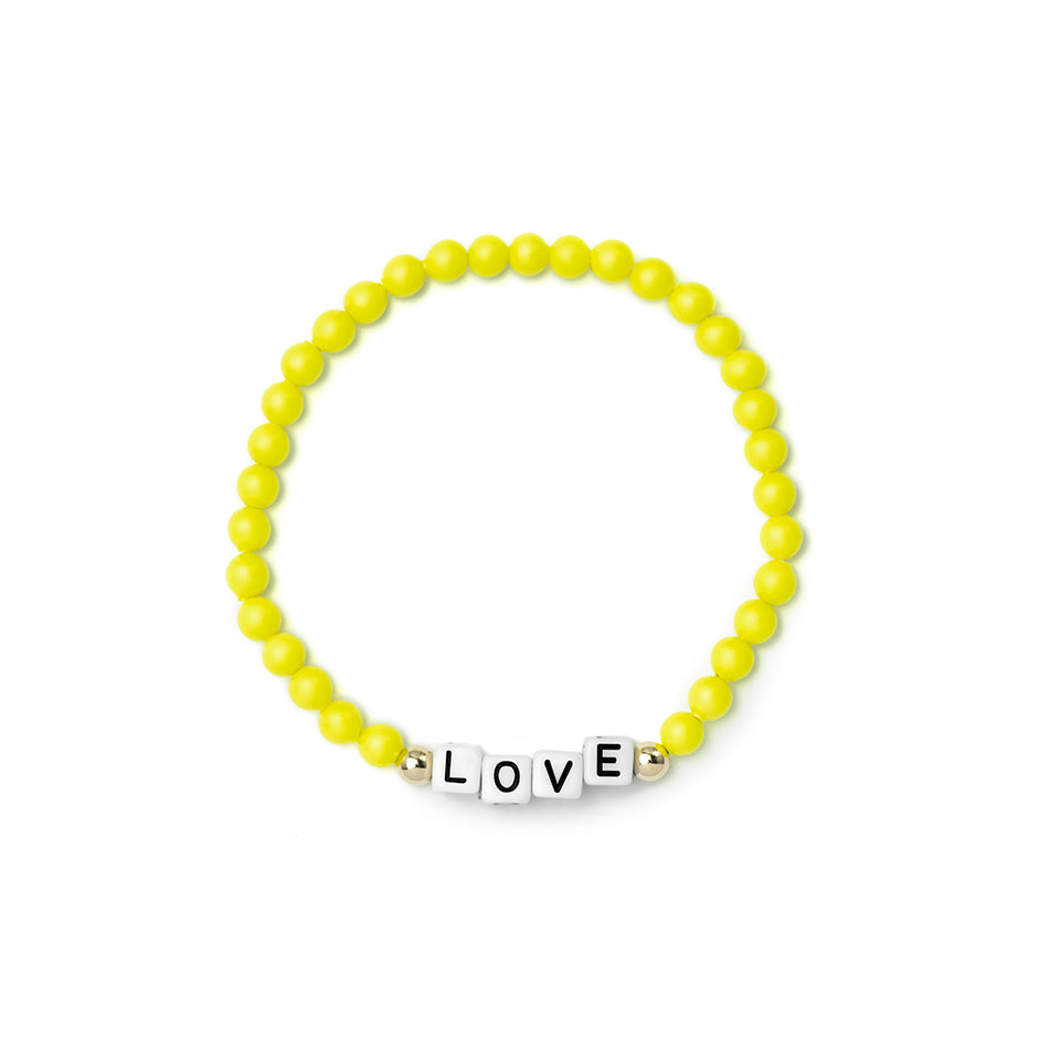 Custom Neon Yellow Bracelet