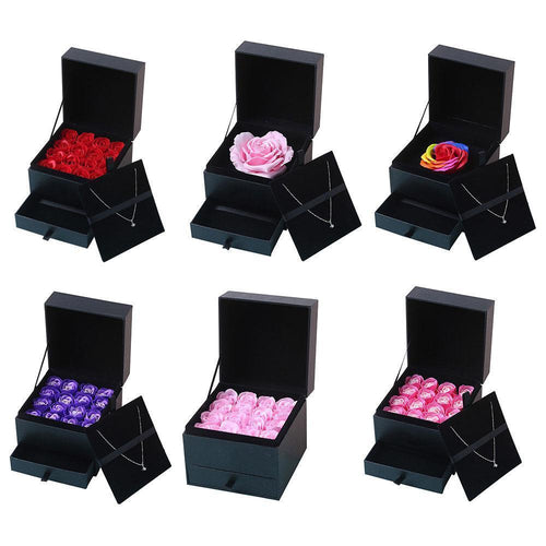 16pcs Romantic Artificial Rose Soap Flowers Set Gift Box