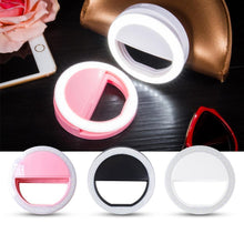 Load image into Gallery viewer, Selfie Ring Light Portable Flash Led Camera Phone Photography Enhancing