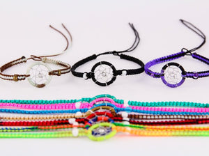 3 Dreamcatcher Friendship Bracelets, Dream catcher bracelets, Woven bracelets, Stocking fillers, Party favours, Gift for her