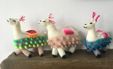 Load image into Gallery viewer, Llama Alpaca Decoration, Hand knitted llama Christmas decorations, Alpaca ornament