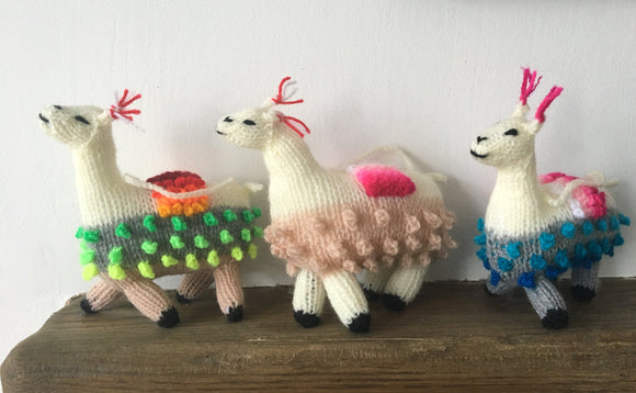 Llama Alpaca Decoration, Hand knitted llama Christmas decorations, Alpaca ornament