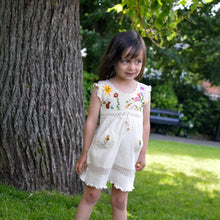 Load image into Gallery viewer, Girls cotton dress, Girl summer dress, Baby summer dress (Hand embroidered 100% organic)