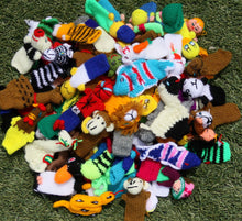 Load image into Gallery viewer, Lot of 25 Hand Knitted Finger Puppets, Advent calenderar fillers, Stockings