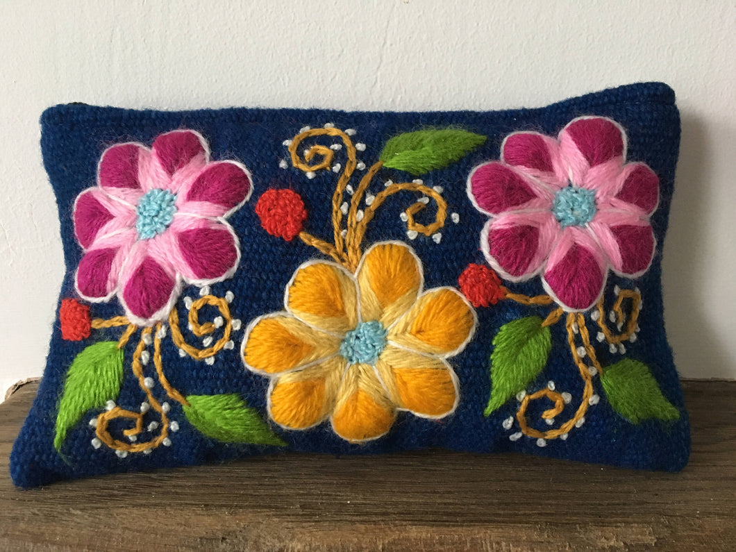 Make up bag, Make up case, Flower bag, Hand embroidered bag, Cosmetic bag, Gift for her, Pencil case, Make up storage, Friend present