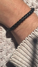 Load image into Gallery viewer, 2 Black and 2 Brown Leather Bracelets